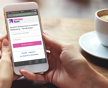 OnVista-Bank-App-Nutzer-Kaffeetasse