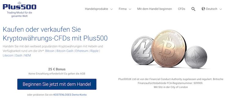 Plus500 Kryptowährungen