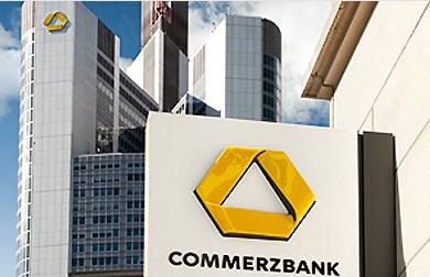 Commerzbank-Frontansicht-Gebäude-Logo