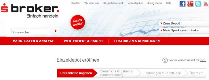 s-broker-Kontoeröffnung-Formular