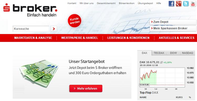 s-Broker Webseite
