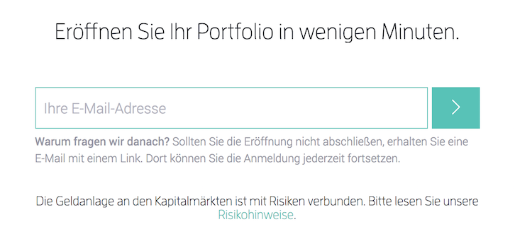 Scalable Capital Portfolio eröffnen