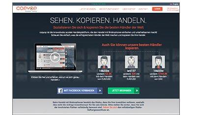 Die Homepage von copyop.com