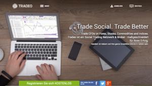 Tradeo Webauftritt