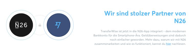 TransferWise Partnerschaft mit N26