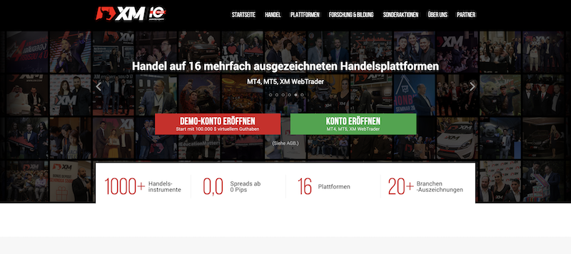 XM Webseite neu